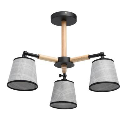 Люстра Mw light 693010403 Форестсовременные подвесные люстры модерн<br>Стильная люстра из коллекции «Форест» станет прекрасным дополнением современного интерьера. Рожки и основание светильника выполнены из металла матового чёрного цвета и разбавлены декоративными вставками из натурального дерева. Под стать эклектичной композиции – аккуратные текстильные абажуры, украшенные рисунком в клетку и кантом в тон основанию.<br><br>S освещ. до, м2: 9<br>Тип лампы: Энергосберегающие, светодиодные, накаливания<br>Тип цоколя: E14<br>Цвет арматуры: бежевый, черный<br>Количество ламп: 3<br>Диаметр, мм мм: 580<br>Длина цепи/провода, мм: 460<br>Высота, мм: 400<br>Поверхность арматуры: матовая<br>Оттенок (цвет): бежевый<br>MAX мощность ламп, Вт: 60W
