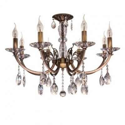 Lightstar STREGARO 694081 СветильникПодвесные<br><br><br>Установка на натяжной потолок: Да<br>S освещ. до, м2: 24<br>Крепление: Крюк<br>Тип товара: Светильник<br>Тип лампы: Накаливания / энергосбережения / светодиодная<br>Тип цоколя: E14<br>Количество ламп: 8<br>MAX мощность ламп, Вт: 60<br>Диаметр, мм мм: 750<br>Цвет арматуры: бронзовый