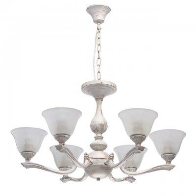 Светильник Mw-light 695010206люстры подвесные классические<br><br><br>S освещ. до, м2: 12<br>Тип лампы: накаливания / энергосбережения / LED-светодиодная<br>Тип цоколя: E27<br>Цвет арматуры: белый<br>Количество ламп: 6<br>Диаметр, мм мм: 720<br>Высота, мм: 800