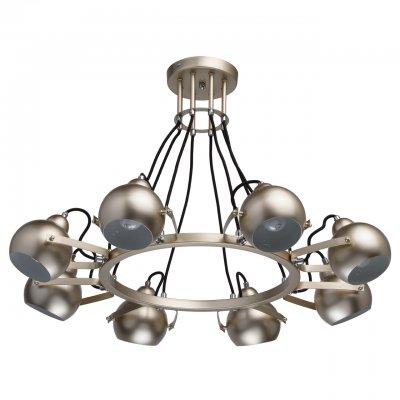 Светильник Mw-light 696010208Подвесные<br><br><br>S освещ. до, м2: 16<br>Тип лампы: накаливания / энергосбережения / LED-светодиодная<br>Тип цоколя: E14<br>Количество ламп: 8<br>Диаметр, мм мм: 800<br>Высота, мм: 500<br>MAX мощность ламп, Вт: 40