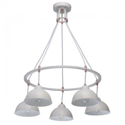 Светильник Mw-light 696010305Подвесные<br><br><br>Тип лампы: Накаливания / энергосбережения / светодиодная<br>Тип цоколя: E27<br>Цвет арматуры: белый<br>Количество ламп: 5<br>Диаметр, мм мм: 600<br>Высота, мм: 770<br>MAX мощность ламп, Вт: 60