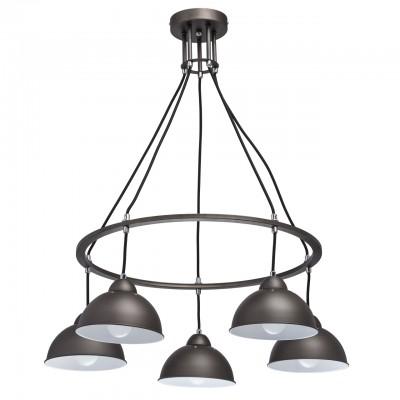 Светильник Mw-light 696010505Подвесные<br><br><br>S освещ. до, м2: 10<br>Тип лампы: накаливания / энергосбережения / LED-светодиодная<br>Тип цоколя: E27<br>Цвет арматуры: черный<br>Количество ламп: 5<br>Диаметр, мм мм: 620<br>Высота, мм: 620