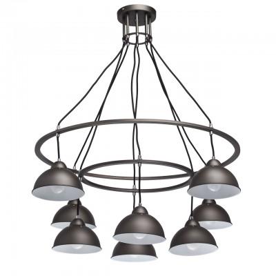 Светильник Mw-light 696010808Подвесные<br><br><br>S освещ. до, м2: 24<br>Тип лампы: накаливания / энергосбережения / LED-светодиодная<br>Тип цоколя: E27<br>Количество ламп: 8<br>Диаметр, мм мм: 900<br>Высота, мм: 920<br>MAX мощность ламп, Вт: 60