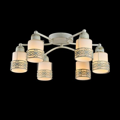 Светильник Евросвет 70005/6 белый с золотомПотолочные<br>Компания «Светодом» предлагает широкий ассортимент люстр от известных производителей. Представленные в нашем каталоге товары выполнены из современных материалов и обладают отличным качеством. Благодаря широкому ассортименту Вы сможете найти у нас люстру под любой интерьер. Мы предлагаем как классические варианты, так и современные модели, отличающиеся лаконичностью и простотой форм.  Стильная люстра Евросвет 70005/6 станет украшением любого дома. Эта модель от известного производителя не оставит равнодушным ценителей красивых и оригинальных предметов интерьера. Люстра Евросвет 70005/6 обеспечит равномерное распределение света по всей комнате. При выборе обратите внимание на характеристики, позволяющие приобрести наиболее подходящую модель. Купить понравившуюся люстру по доступной цене Вы можете в интернет-магазине «Светодом».<br><br>Установка на натяжной потолок: Да<br>S освещ. до, м2: 16<br>Крепление: Планка<br>Тип лампы: накаливания / энергосбережения / LED-светодиодная<br>Тип цоколя: E14<br>Количество ламп: 6<br>MAX мощность ламп, Вт: 40<br>Диаметр, мм мм: 600<br>Высота, мм: 250<br>Цвет арматуры: белый с золотистой патиной