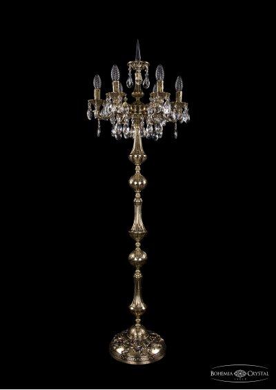 Торшер Bohemia Ivele 7000/6/125-134/A/GBХрустальные<br><br><br>Тип товара: Торшер<br>Тип лампы: накаливания / энергосбережения / LED-светодиодная<br>Тип цоколя: E14<br>Количество ламп: 6<br>MAX мощность ламп, Вт: 60<br>Размеры: Диаметр - 42см<br>Цвет арматуры: Золото черненное