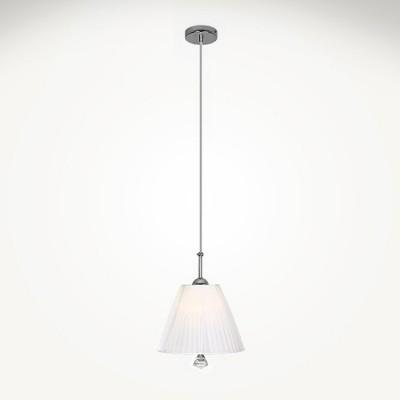Евросвет 70042/1 хромОдиночные<br><br><br>S освещ. до, м2: 3<br>Тип лампы: Накаливания / энергосбережения / светодиодная<br>Тип цоколя: E14<br>Количество ламп: 1<br>MAX мощность ламп, Вт: 60<br>Диаметр, мм мм: 250<br>Высота, мм: 420 - 1000