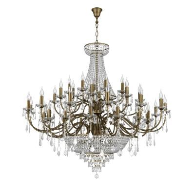 Люстра Lightstar 700511 CLASSICПодвесные<br><br><br>S освещ. до, м2: 102<br>Тип лампы: Накаливания / энергосбережения / светодиодная<br>Тип цоколя: E14<br>Цвет арматуры: бронзовый<br>Количество ламп: 51<br>Диаметр, мм мм: 1350<br>Высота, мм: 1700 - 2700<br>MAX мощность ламп, Вт: 40