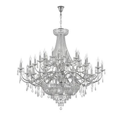Люстра Lightstar 700514 CLASSICПодвесные<br><br><br>Тип лампы: Накаливания / энергосбережения / светодиодная<br>Тип цоколя: E14<br>Количество ламп: 51<br>MAX мощность ламп, Вт: 40<br>Диаметр, мм мм: 1350<br>Высота, мм: 1700 - 2700<br>Цвет арматуры: серебристый