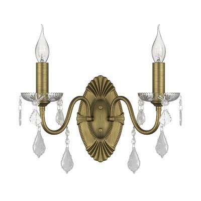 Бра Lightstar 700621 CLASSICКлассические<br><br><br>Тип лампы: Накаливания / энергосбережения / светодиодная<br>Тип цоколя: E14<br>Количество ламп: 2<br>Ширина, мм: 340<br>MAX мощность ламп, Вт: 40<br>Расстояние от стены, мм: 200<br>Высота, мм: 365<br>Цвет арматуры: бронзовый