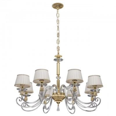 Светильник Chiaro 701010108современные подвесные люстры модерн<br><br><br>S освещ. до, м2: 16<br>Тип лампы: накаливания / энергосбережения / LED-светодиодная<br>Тип цоколя: E14<br>Цвет арматуры: золотой<br>Количество ламп: 8<br>Диаметр, мм мм: 960<br>Высота, мм: 1180<br>MAX мощность ламп, Вт: 40