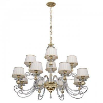 Светильник Chiaro 701010212Подвесные<br><br><br>Тип лампы: Накаливания / энергосбережения / светодиодная<br>Тип цоколя: E14<br>Цвет арматуры: золотой<br>Количество ламп: 12<br>Диаметр, мм мм: 1040<br>Высота, мм: 1350