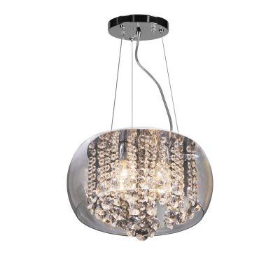 Люстра Colosseo 70115/4 MauraПодвесные<br><br><br>Установка на натяжной потолок: Да<br>S освещ. до, м2: 16<br>Крепление: Планка<br>Тип товара: Люстра подвесная<br>Тип лампы: накаливания / энергосбережения / LED-светодиодная<br>Тип цоколя: E14<br>Количество ламп: 4<br>MAX мощность ламп, Вт: 60<br>Диаметр, мм мм: 350<br>Высота, мм: 250 - 900<br>Цвет арматуры: серебристый