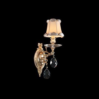 Lightstar FIOCCO 701611 Светильник настенный браКлассика<br><br><br>S освещ. до, м2: 2<br>Тип товара: Светильник настенный бра<br>Тип лампы: накаливания / энергосбережения / LED-светодиодная<br>Тип цоколя: E14<br>Количество ламп: 1<br>Ширина, мм: 130<br>MAX мощность ламп, Вт: 40<br>Размеры: W 130 H 430 L 240<br>Длина, мм: 240<br>Высота, мм: 430<br>Оттенок (цвет): бежевый<br>Цвет арматуры: золотой