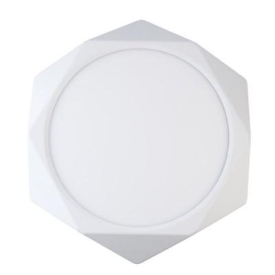 Светильник De Markt 702011301люстры хай тек потолочные<br>Компактный светильник из коллекции «Стаут» подойдет для интерьеров в самых разных стилевых решениях: от авангарда и минимализма до неоклассики и модерна. Острые грани и прямые линии создают выверенную точность и графичность технологичных моделей, а белый цвет разбавляет и освежает строгую композицию. В качестве источников света выступают светодиоды. Светильник идеально подойдет для направленного зонального освещения в спальне, гостиной, кухне, прихожей и даже в ванной (в достаточной удаленности от источника влаги).<br><br>S освещ. до, м2: 11.16<br>Тип лампы: LED<br>Тип цоколя: LED<br>Цвет арматуры: белая<br>Количество ламп: 48<br>Диаметр, мм мм: 360<br>Высота, мм: 40<br>Поверхность арматуры: матовая<br>Оттенок (цвет): белый<br>MAX мощность ламп, Вт: 0.5