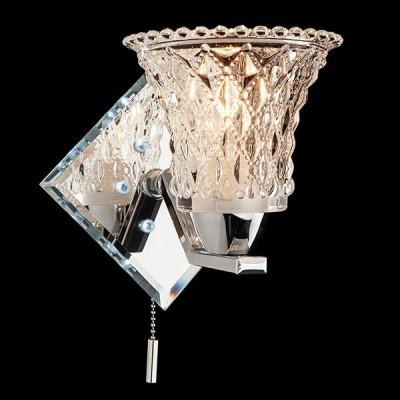 Светильник Евросвет 70209/1 хром/белыйХрустальные<br><br><br>Тип лампы: Накаливания / энергосбережения / светодиодная<br>Тип цоколя: E14<br>Цвет арматуры: серебристый<br>Количество ламп: 1<br>Ширина, мм: 170<br>Расстояние от стены, мм: 170<br>Высота, мм: 250<br>MAX мощность ламп, Вт: 40