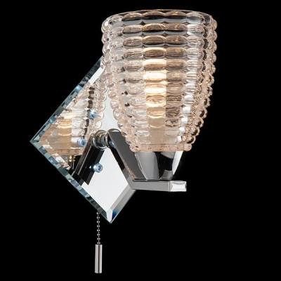 Светильник Евросвет 70210/1 хром/белыйМодерн<br><br><br>Тип товара: Светильник настенный бра<br>Тип лампы: Накаливания / энергосбережения / светодиодная<br>Тип цоколя: E14<br>Количество ламп: 1<br>Ширина, мм: 100<br>MAX мощность ламп, Вт: 40<br>Расстояние от стены, мм: 100<br>Высота, мм: 230<br>Цвет арматуры: серебристый