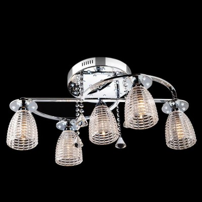Светильник Евросвет 70210/5 хром/белыйПотолочные<br><br><br>Установка на натяжной потолок: Да<br>S освещ. до, м2: 15<br>Крепление: Планка<br>Тип лампы: Накаливания / энергосбережения / светодиодная<br>Тип цоколя: E14<br>Количество ламп: 5<br>MAX мощность ламп, Вт: 60<br>Диаметр, мм мм: 700<br>Высота, мм: 290<br>Цвет арматуры: серебристый