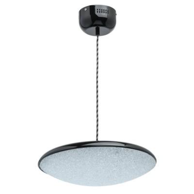 Светильник Mw light 703011101подвесные люстры хай тек<br>Основание светильника выполнено из металла и окрашено в черный цвет. Светодиодный источник света типа SMD-board закрыт белым фактурным акрилом.<br><br>S освещ. до, м2: 7.44<br>Тип лампы: LED<br>Тип цоколя: LED<br>Цвет арматуры: черный<br>Количество ламп: 40<br>Диаметр, мм мм: 400<br>Длина цепи/провода, мм: 2000<br>Высота, мм: 2180<br>Поверхность арматуры: глянцевая<br>Оттенок (цвет): черный<br>MAX мощность ламп, Вт: 0.5
