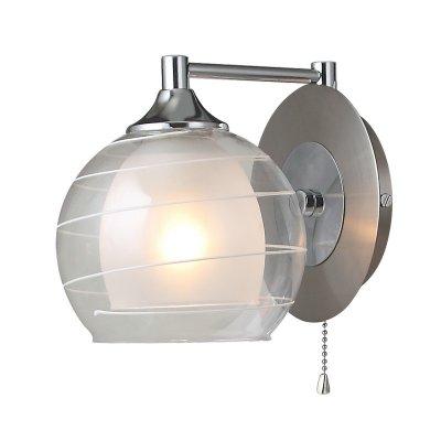 Светильник Colosseo 70309/1WМодерн<br><br><br>S освещ. до, м2: 4<br>Тип товара: Светильник настенный бра<br>Тип лампы: накаливания / энергосбережения / LED-светодиодная<br>Тип цоколя: E14<br>Количество ламп: 1<br>Ширина, мм: 150<br>MAX мощность ламп, Вт: 60<br>Расстояние от стены, мм: 200<br>Высота, мм: 170<br>Цвет арматуры: серебристый