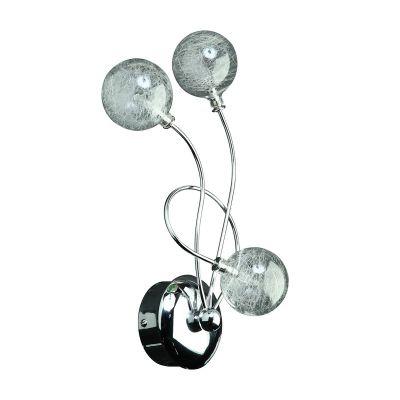 Светильник бра Colosseo 70401/3W OrnellaМодерн<br>Настенный светильник Colosseo 70401/3W Ornella хром гармонично дополнит интерьер в современном стиле. Оригинальна конструкци с круглыми прозрачными плафонами-шарами всегда будет привлекать к себе повышенное внимание, потому легко может быть использована не только в качестве подсветки картины, зеркала или архитектурных особенностей стены, но и в качестве самостотельного лемента декора комнаты. Рекомендуем Вам использовать бра в комплекте из нескольких кземплров и лстрой из той же серии, тогда интерьер будет выглдеть «законченным» и стильным.<br><br>S освещ. до, м2: 4<br>Крепление: настенное<br>Тип лампы: галогенна / LED-светодиодна<br>Тип цокол: G4<br>Количество ламп: 3<br>Ширина, мм: 340<br>MAX мощность ламп, Вт: 20<br>Расстоние от стены, мм: 180<br>Высота, мм: 180<br>Оттенок (цвет): белый<br>Цвет арматуры: серебристый
