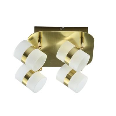 Светильник De Markt 704010704 Этингерлюстры хай тек потолочные<br>Светильник предназначен для подсветки современных интерьеров в стиле техно, минимализм, хай-тек. Его матовое металлическое основание выполнено в благородном золотом цвете и подчеркнуто миниатюрными плафонами из матового акрила. Благодаря подобранной цветовой палитре технологичная модель смотрится изящно и свежо