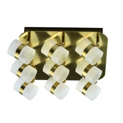 Светильник De Markt 704010909люстры хай тек потолочные<br>Светильник предназначен для подсветки современных интерьеров в стиле техно, минимализм, хай-тек. Его матовое металлическое основание выполнено в благородном золотом цвете и подчеркнуто миниатюрными плафонами из матового акрила. Благодаря подобранной цветовой палитре технологичная модель смотрится изящно и свежо<br><br>S освещ. до, м2: 8.37<br>Тип лампы: LED<br>Тип цоколя: LED<br>Цвет арматуры: золотой<br>Количество ламп: 45<br>Ширина, мм: 320<br>Высота полная, мм: 135<br>Длина, мм: 320<br>Поверхность арматуры: глянцевая<br>Оттенок (цвет): золотой<br>MAX мощность ламп, Вт: 0.5