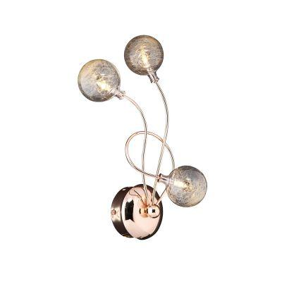 Светильник бра Colosseo 70402/3W OrnellaСовременные<br>Настенный светильник Colosseo 70402/3W Omella золото дополнит интерьер в стиле «модерн» и станет его «изюминкой»! Ультрасовременная форма с круглыми прозрачными плафонами, направленными в разные стороны, приковывает к себе внимание, поэтому может легко служить как в качестве подсветки, так и в качестве самостоятельного элемента декора комнаты. Рекомендуем Вам использовать бра в комплекте из нескольких экземпляров и люстрой из этой же серии, тогда интерьер будет выглядеть «законченным» и совершенным, как будто над ним поработал профессиональный дизайнер.<br><br>S освещ. до, м2: 4<br>Крепление: настенное<br>Тип лампы: галогенная / LED-светодиодная<br>Тип цоколя: G4<br>Количество ламп: 3<br>Ширина, мм: 340<br>MAX мощность ламп, Вт: 20<br>Расстояние от стены, мм: 150<br>Высота, мм: 180<br>Оттенок (цвет): золотой<br>Цвет арматуры: золотой
