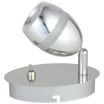 Светильник De Markt 704022401 Этингеродиночные споты<br>Стильный минималистичный светильник идеально подойдет для подсветки современного интерьера. Металлическое основание глянцевого хромированного оттенка дополнено миниатюрным плафоном того же цвета. Его оригинальная форма подчеркнута декоративной акриловой вставкой. Помимо этого, плафон оснащен спот-системой, а значит, можно менять направление светового потока, подстраивая его под свои нужды.