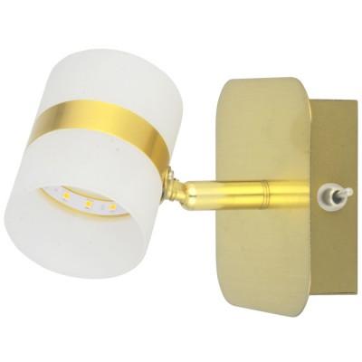 Светильник De Markt 704023301Настенные споты<br>Светильник предназначен для подсветки современных интерьеров в стиле техно, минимализм, хай-тек. Его матовое металлическое основание выполнено в благородном золотом цвете и подчеркнуто миниатюрным плафоном из матового акрила. Благодаря подобранной цветовой палитре технологичная модель смотрится изящно и свежо.<br><br>S освещ. до, м2: 1<br>Тип цоколя: LED<br>Цвет арматуры: золотой<br>Количество ламп: 5<br>Ширина, мм: 100<br>Высота полная, мм: 130<br>Длина, мм: 100<br>Поверхность арматуры: глянцевая<br>Оттенок (цвет): золотой<br>MAX мощность ламп, Вт: 0.5