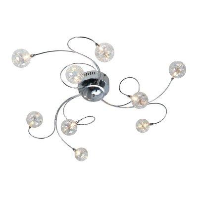 Люстра Colosseo 70404/9C CosmoПотолочные<br>Модерн<br><br>Установка на натяжной потолок: Ограничено<br>S освещ. до, м2: 12<br>Крепление: Планка<br>Тип лампы: галогенная / LED-светодиодная<br>Тип цоколя: G4<br>Количество ламп: 9<br>MAX мощность ламп, Вт: 20<br>Диаметр, мм мм: 850<br>Высота, мм: 180<br>Цвет арматуры: серебристый