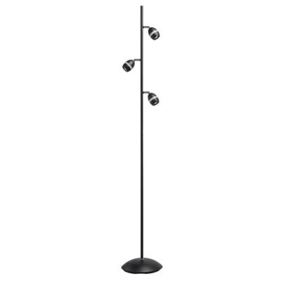 Светильник Mw light 704040603торшеры черные<br>Стильный функциональный светильник отлично впишется в современное пространство. Основание выполнено из металла в двух цветовых вариациях: в хромированном и чёрном тоне. Под стать основанию - миниатюрные акриловые плафоны того же оттенка. Они оснащены спот-системой, благодаря чему можно легко регулировать направление светового потока. Модель будет прекрасно смотреться в любом интерьере за счет своего универсального дизайна и цветовой гаммы.<br><br>S освещ. до, м2: 4.47<br>Тип лампы: LED<br>Тип цоколя: LED<br>Цвет арматуры: черный<br>Количество ламп: 24<br>Ширина, мм: 260<br>Длина, мм: 260<br>Высота, мм: 1655<br>Поверхность арматуры: матовая<br>Оттенок (цвет): черный<br>MAX мощность ламп, Вт: 0.5