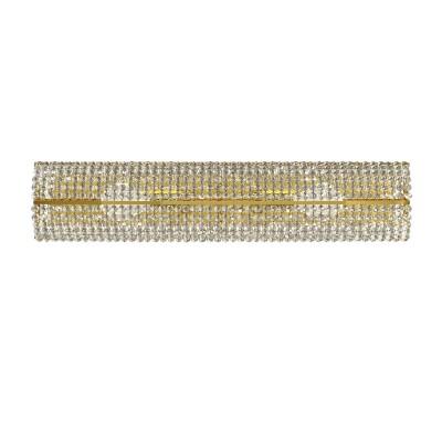 Lightstar MONILE 704632 Светильник настенный браХрустальные<br><br><br>Тип лампы: Накаливания / энергосбережения / светодиодная<br>Тип цоколя: E14<br>Количество ламп: 3<br>Ширина, мм: 400<br>MAX мощность ламп, Вт: 40<br>Размеры: H 90 W 90x420<br>Расстояние от стены, мм: 120<br>Высота, мм: 100<br>Цвет арматуры: Золотой