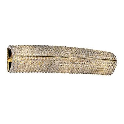 Светильник настенный Lightstar 704642 Monileхрустальные бра<br>Высота min-max (см): 10; Ширина (см): 50; Глубина (см): 12; Вес (кг): 1,9; Кол-во ламп: 4xE14; Мощность max (W): 40; Цвет основания/цвет стекла или абажура: Gold/Cristal Clear;