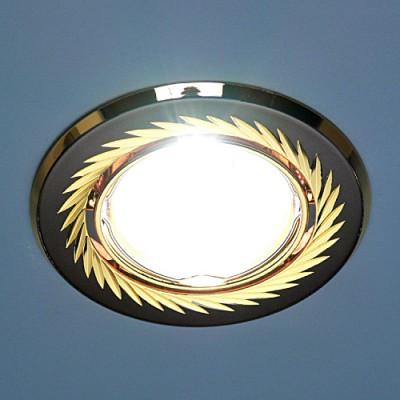 704A CX GU/G (черный/золото) Электростандарт Точечный светильникКруглые<br>Лампа: MR16 G5.3 max 50 Вт Диаметр: #216; 86 мм Высота внутренней части: ? 20 мм Высота внешней части: ? 4 мм Монтажное отверстие: #216; 76 мм Гарантия: 2 года Светильник имеет поворотный механизм<br><br>S освещ. до, м2: 3<br>Тип лампы: галогенная<br>Тип цоколя: gu5.3<br>Цвет арматуры: Золотой<br>Количество ламп: 1<br>Диаметр, мм мм: 88<br>Диаметр врезного отверстия, мм: 75<br>Оттенок (цвет): черный<br>MAX мощность ламп, Вт: 50