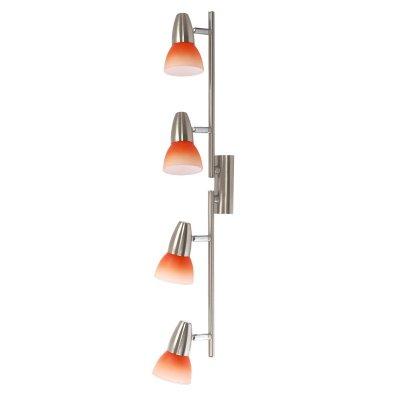 Светильник спот Colosseo 70608/4 GardaС 4 лампами<br>Благодаря специальной конструкции светильник Colosseo 70608/4 Garda можно закреплять не только на стене и на потолке, но и под разными углами, что дает практически неограниченные возможности для творчества! С его помощью Вы легко превратите свой интерьер в уникальный, неповторимый и запоминающийся. Светильник может служить и в качестве подсветки, и как самостоятельный элемент декора комнаты. А используя несколько экземпляров, легко создать настоящий «световой» шедевр, например, сделав на стене или потолке «квадрат», «ломаные» линии и т.п. С помощью поворотных плафонов лучи света в любой момент можно направить именно в те зоны, которые Вам необходимо выделить и подчеркнуть.<br><br>S освещ. до, м2: 10<br>Крепление: планка<br>Тип лампы: накал-я - энергосбер-я<br>Тип цоколя: E14(R50)<br>Количество ламп: 4<br>Ширина, мм: 650<br>MAX мощность ламп, Вт: 40<br>Расстояние от стены, мм: 200<br>Высота, мм: 80<br>Цвет арматуры: серый