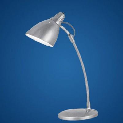Eglo TOP DESK 7060 Офисная настольная лампаОфисные<br>Австрийское качество модели светильника Eglo 7060 не оставит равнодушным каждого купившего! Основание сталь с защитным/декоративным покрытием серого цвета, Класс изоляции 2 (плоская вилка, двойная изоляция от вилки до лампы), отдельный выключатель, IP 20, освещенность 860 lm Н=470,L=305,1X60W(E27).<br><br>S освещ. до, м2: 4<br>Тип лампы: накал-я - энергосбер-я<br>Тип цоколя: E27<br>Количество ламп: 1<br>MAX мощность ламп, Вт: 2<br>Размеры основания, мм: 145 / 175<br>Длина, мм: 305<br>Высота, мм: 470<br>Цвет арматуры: серебристый<br>Общая мощность, Вт: 1X60W