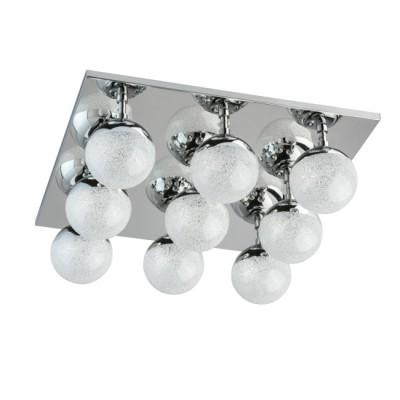 Светильник Mw light 707010709современные потолочные люстры модерн<br>Этот светильник – находка для тех, кто мечтает о стильной нетривиальной подсветке современного интерьера. Металлическое основание представлено в двух цветовых комбинациях: матовое серебро + медь и серебро + хром. На глянцевой поверхности основания красиво отражаются оригинальные закрытые плафоны сферической формы. Они выполнены из металла в тон основания и прозрачного стекла с эффектом хрустальной крошки. Благодаря этому создается ощущение, что перед нами – красивый драгоценный камень. Минималистичная композиция идеально подойдет для комнат со стандартными потолками.<br><br>S освещ. до, м2: 17<br>Тип лампы: LED<br>Тип цоколя: LED<br>Цвет арматуры: серебристый хром<br>Количество ламп: 9<br>Ширина, мм: 400<br>Длина, мм: 400<br>Высота, мм: 160<br>Оттенок (цвет): серебристый хром<br>MAX мощность ламп, Вт: 4.44