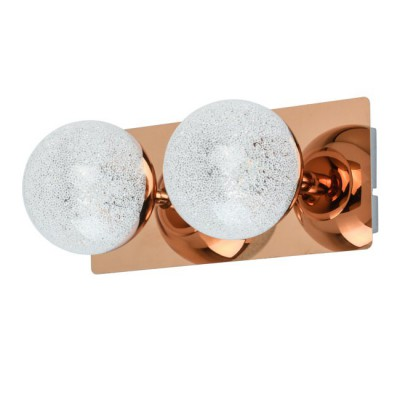Светильник Mw light 707020402настенные бра цвета золото<br>Этот светильник – находка для тех, кто мечтает о стильной нетривиальной подсветке современного интерьера. Металлическое основание представлено в двух цветовых комбинациях: матовое серебро + медь и серебро + хром. На глянцевой поверхности основания красиво отражаются оригинальные закрытые плафоны сферической формы. Они выполнены из металла в тон основания и прозрачного стекла с эффектом хрустальной крошки. Благодаря этому создается ощущение, что перед нами – красивый драгоценный камень. Минималистичная композиция идеально подойдет для комнат со стандартными потолками.<br><br>S освещ. до, м2: 4<br>Тип лампы: LED<br>Тип цоколя: LED<br>Цвет арматуры: медный<br>Количество ламп: 2<br>Ширина, мм: 240<br>Длина, мм: 100<br>Высота, мм: 130<br>Поверхность арматуры: глянцевая<br>Оттенок (цвет): медный<br>MAX мощность ламп, Вт: 5