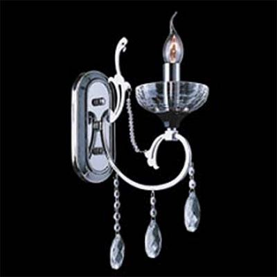 Lightstar PESANTE 707614 Светильник настенный браХрустальные<br><br><br>S освещ. до, м2: 4<br>Тип товара: Светильник настенный бра<br>Тип лампы: накаливания / энергосбережения / LED-светодиодная<br>Тип цоколя: E14<br>Количество ламп: 1<br>MAX мощность ламп, Вт: 60<br>Размеры: W 120 H 450 B 250<br>Оттенок (цвет): серебристый<br>Цвет арматуры: серебристый