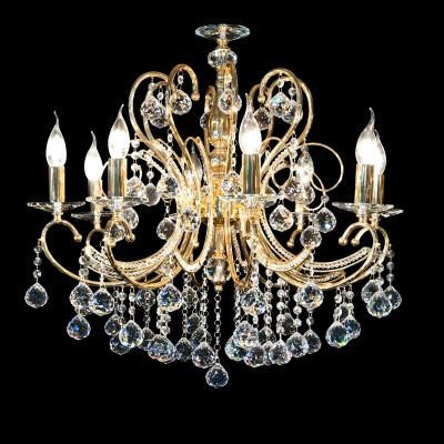 Светильник Lightstar 708052 ELEGANTEподвесные хрустальные люстры<br>Люстра Elegante полностью соответствует своему названию. Металлическое основание покрыто специальным антикоррозионным составом, которое напоминает настоящее золото. Без таких люстр в Европе не обходилось ни одно светское мероприятие. А эти хрустальные подвески! Сама французская герцогиня могла бы носить такие украшения на своих одеждах, если бы они уже не были заняты люстрой Elegante.<br>Стильная люстра Lightstar 708052 станет украшением любого дома. Эта модель от известного производителя не оставит равнодушным ценителей красивых и оригинальных предметов интерьера. Люстра Lightstar 708052 обеспечит равномерное распределение света по всей комнате. При выборе обратите внимание на характеристики, позволяющие приобрести наиболее подходящую модель. <br>Купить понравившуюся люстру по доступной цене Вы можете в интернет-магазине «Светодом».<br><br>Установка на натяжной потолок: Да<br>S освещ. до, м2: 15<br>Крепление: Крюк<br>Тип лампы: Накаливания / энергосбережения / светодиодная<br>Тип цоколя: E14<br>Цвет арматуры: Золотой<br>Количество ламп: 5<br>Диаметр, мм мм: 520<br>Высота, мм: 760 - 1760<br>MAX мощность ламп, Вт: 60