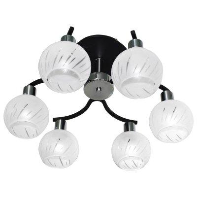 Люстра Colosseo 70830/6CПотолочные<br><br><br>Установка на натяжной потолок: Да<br>S освещ. до, м2: 24<br>Крепление: Планка<br>Тип товара: Люстра<br>Тип лампы: накаливания / энергосбережения / LED-светодиодная<br>Тип цоколя: E14<br>Количество ламп: 6<br>MAX мощность ламп, Вт: 60<br>Диаметр, мм мм: 460<br>Высота, мм: 270<br>Цвет арматуры: черный