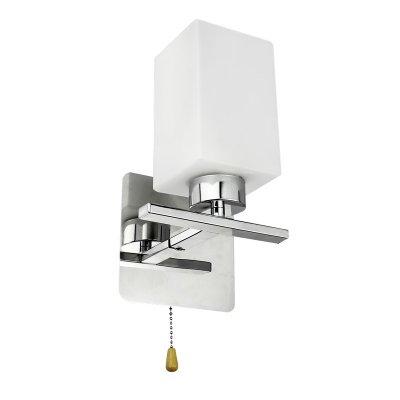 Светильник Colosseo 70836/1WХай-тек<br><br><br>S освещ. до, м2: 4<br>Тип лампы: накаливания / энергосбережения / LED-светодиодная<br>Тип цоколя: E27<br>Количество ламп: 1<br>Ширина, мм: 150<br>MAX мощность ламп, Вт: 60<br>Длина, мм: 250<br>Расстояние от стены, мм: 140<br>Высота, мм: 140<br>Цвет арматуры: серебристый