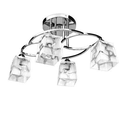 Люстра Colosseo 70842/4CПотолочные<br><br><br>Установка на натяжной потолок: Да<br>S освещ. до, м2: 16<br>Крепление: Планка<br>Тип товара: Люстра<br>Тип лампы: накаливания / энергосбережения / LED-светодиодная<br>Тип цоколя: E14<br>Количество ламп: 4<br>Ширина, мм: 600<br>MAX мощность ламп, Вт: 60<br>Длина, мм: 450<br>Высота, мм: 310<br>Цвет арматуры: серебристый