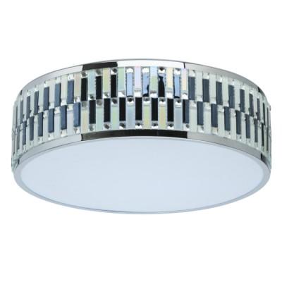 Светильник Mw light 709010301люстры хай тек потолочные<br>Основание светильника выполнено из металла и гальванизировано в цвет хрома. Корпус светильника декорирован витражным стеклом цвета хрома. Светодиодный источник света типа SMD-board закрыт рассеивателем из белого матового акрила.<br><br>S освещ. до, м2: 7.22<br>Тип лампы: LED<br>Тип цоколя: LED<br>Цвет арматуры: серебристый хром<br>Количество ламп: 105<br>Диаметр, мм мм: 400<br>Длина цепи/провода, мм: 400<br>Высота, мм: 400<br>Поверхность арматуры: глянцевая<br>Оттенок (цвет): серебристый хром<br>MAX мощность ламп, Вт: 0.2