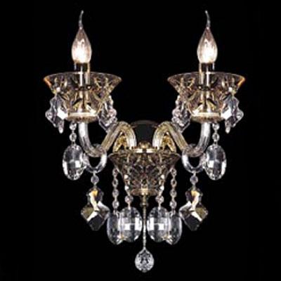 Lightstar TESORO 710622 Светильник настенный браХрустальные<br><br><br>S освещ. до, м2: 8<br>Тип лампы: накаливания / энергосбережения / LED-светодиодная<br>Тип цоколя: E14<br>Количество ламп: 2<br>MAX мощность ламп, Вт: 60<br>Размеры: H 360 W 380 L 280<br>Высота, мм: 360<br>Оттенок (цвет): Золото<br>Цвет арматуры: золотой