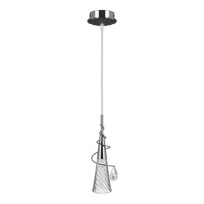 Люстра Lightstar 711014 AEREOодиночные подвесные светильники<br>Люстра Aereo скромная и нарядная. Тонкая подвесная конструкция, которая завершается стеклянным бутоном. Он состоит из металлического основания в цвете хром и волнистого плафона, в неровностях которого расплывается свет и мягко заполняет комнату. Украшает светильник хрустальная капля, которая призвана блистать в глазах каждого, кто обратит к ней свой взор. <br>Подвесной светильник Lightstar 711014 сразу же привлечет внимание Ваших гостей благодаря стильному исполнению. Благородный дизайн позволит использовать эту модель практически в любом интерьере. Она обеспечит достаточно света и при этом легко монтируется. Чтобы купить подвесной светильник Lightstar 711014, воспользуйтесь формой на нашем сайте или позвоните менеджерам интернет-магазина.<br><br>S освещ. до, м2: 2<br>Тип лампы: галогенная / LED-светодиодная<br>Тип цоколя: G9<br>Цвет арматуры: серебристый<br>Количество ламп: 1<br>Диаметр, мм мм: 100<br>Размеры основания, мм: 110<br>Размеры: D65 H360-800<br>Высота, мм: 1000<br>Оттенок (цвет): прозрачный<br>MAX мощность ламп, Вт: 40