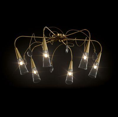 Lightstar AEREO 711062 ЛюстраПотолочные<br>Компания «Светодом» предлагает широкий ассортимент люстр от известных производителей. Представленные в нашем каталоге товары выполнены из современных материалов и обладают отличным качеством. Благодаря широкому ассортименту Вы сможете найти у нас люстру под любой интерьер. Мы предлагаем как классические варианты, так и современные модели, отличающиеся лаконичностью и простотой форм.  Стильная люстра Lightstar 711062 станет украшением любого дома. Эта модель от известного производителя не оставит равнодушным ценителей красивых и оригинальных предметов интерьера. Люстра Lightstar 711062 обеспечит равномерное распределение света по всей комнате. При выборе обратите внимание на характеристики, позволяющие приобрести наиболее подходящую модель. Купить понравившуюся люстру по доступной цене Вы можете в интернет-магазине «Светодом».<br><br>Установка на натяжной потолок: Да<br>S освещ. до, м2: 20<br>Крепление: Планка<br>Тип лампы: галогенная / LED-светодиодная<br>Тип цоколя: G9<br>Количество ламп: 6<br>MAX мощность ламп, Вт: 60<br>Диаметр, мм мм: 770mm<br>Размеры: D 770 H 360<br>Высота, мм: 360mm<br>Оттенок (цвет): золото<br>Цвет арматуры: золотой