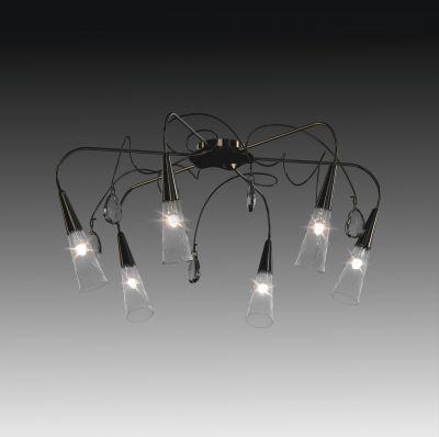 Lightstar AEREO 711067 ЛюстраПотолочные<br><br><br>Установка на натяжной потолок: Да<br>S освещ. до, м2: 20<br>Крепление: Планка<br>Тип товара: Люстра<br>Тип лампы: галогенная / LED-светодиодная<br>Тип цоколя: G9<br>Количество ламп: 6<br>MAX мощность ламп, Вт: 40<br>Диаметр, мм мм: 770mm<br>Размеры: H 360 D 770<br>Высота, мм: 360mm<br>Оттенок (цвет): черный<br>Цвет арматуры: черный