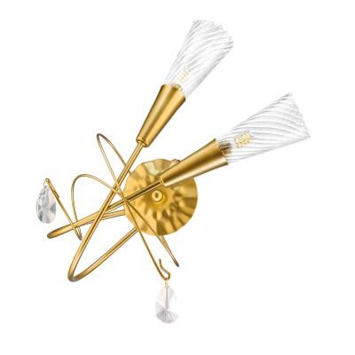 Светильник Lightstar 711631современные бра модерн<br>Высота min-max (см):50; Ширина (см): 37; Глубина (см): 15; Вес (кг): 0,95; Кол-во ламп: 2xG9; Мощность max (W): 25; Цвет основания/цвет стекла или абажура: матовое золото; Особенности: в новых поставках в комплекте идут светодиодные лампы 6Вт - 940454<br><br>Тип лампы: галогенная/LED - светодиодная<br>Тип цоколя: G9<br>Цвет арматуры: золотой<br>Количество ламп: 2<br>Ширина, мм: 370<br>Расстояние от стены, мм: 150<br>Высота, мм: 500<br>Поверхность арматуры: матовая<br>Оттенок (цвет): золотой<br>MAX мощность ламп, Вт: 25