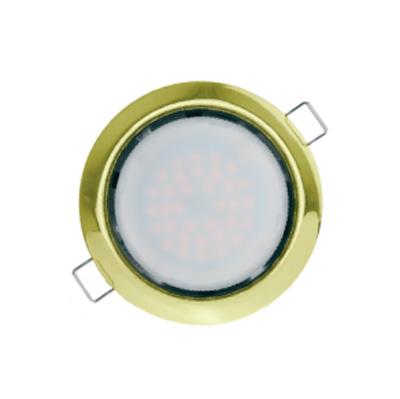 Светильник Navigator 71 278 NGX-R1-002-GX53(Золото)Круглые LED<br>Ультратонкий встраиваемый светильник  Navigator серии NGX  для ламп с цоколем GX53 на напряжение 220 В.  <br>  Основные преимущества:<br><br>Энергосберегающая альтернатива  точечным светильникам под галогенную  или лампу накаливания<br>Экономия электроэнергии в 5–10 раз<br>Нагревается в 5–10 раз меньше. Можно  устанавливать в деревянную или пластиковую  поверхность без теплоизоляции<br>Установочная высота всего 40 мм<br>Диапазон рабочих температур окружающей среды от -25 до +40 ?С;<br>Идеальное решение для подвесных и натяжных  потолков, мебели и других конструкций<br><br>Тип лампы: LED<br>Тип цоколя: GX53<br>Диаметр, мм мм: 105<br>Диаметр врезного отверстия, мм: 90<br>Высота, мм: 40<br>Цвет арматуры: Золотой